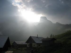 Blick zur Nachbarhütte